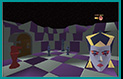 Chess3D: One of the 4 3D chat worlds of our bride 'Alice', with the queen.