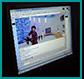 Internet play: Screen shot off a computer of live fashion/drama event which you could be at live in NYC or Vancouver or virtual from any computer in the world.