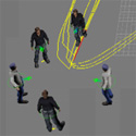 A Model for Social Spatial Behavior in Virtual Characters