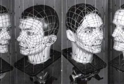 Original wired heads: 1988 Musique Non Stop created artwork.